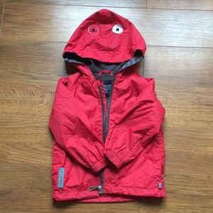 4/30$Spring jacket size 2 red and grey windbreaker